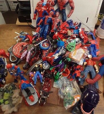 Huge Spider-man lot of over 40+ Toys Figures, Collectibles and Tub Lot2