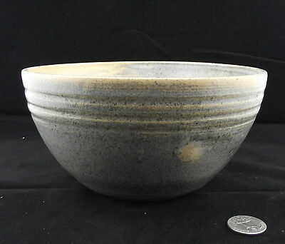 "Vintage Orr Art Pottery Bowl With Blue Grey Glaze 7""  Banded Ready To Ship!"