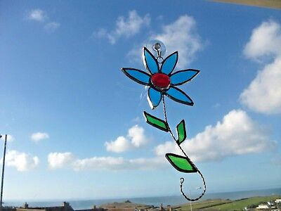 HANDMADE Stained Glass flower Sun-catcher