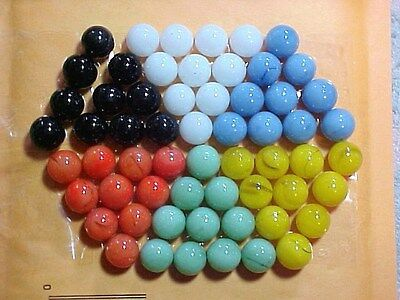 "JABO CHINESE CHECKERS  SET OF 60 .. 9/16"" (+or-)GAME MARBLES $8.99 POSTPAID!!!"