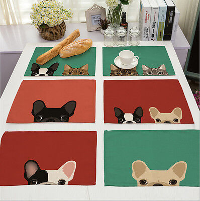 new Cartoon Doggy dog Insulation Bowl Placemats Dining Pad Western Table Mats