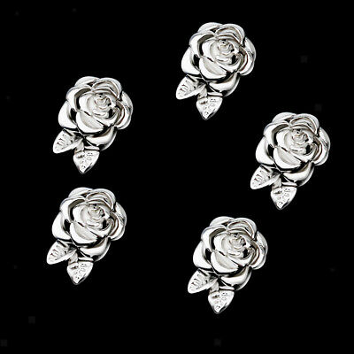 5pcs Silver Flower Magnetic Clasps Connectors Finding for Jewelry DIY Making
