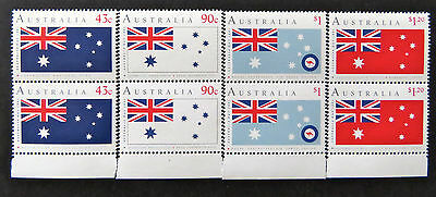 Australian Decimal Stamps:1991 Australia Day-Set 4x2-Tabs Aust Flags/Ensigns MNH