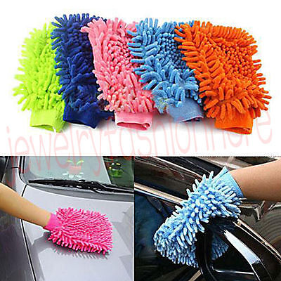 1Pc Mitt Microfiber Car Window Washing Home Cleaning Cloth Duster Towel Gloves