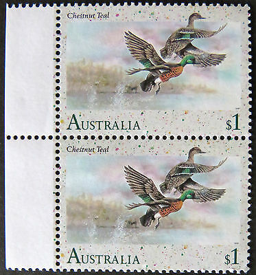 Australian Decimal Stamps:1991 Waterbirds of Australia - Double $1 - Tabs MNH
