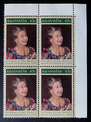 Australian Decimal Stamps:1991 Queen Elizabeth II Birthday - Set of 4 - Tabs MNH