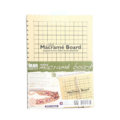 BeadSmith Mini Macrame Board Tool for Easy Cord Management with Notches