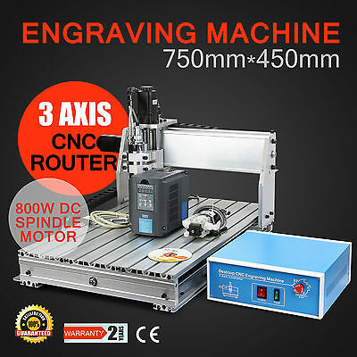 CNC 6040Z Router Engraver Engraving Drilling Milling Machine 3 Axis Motors