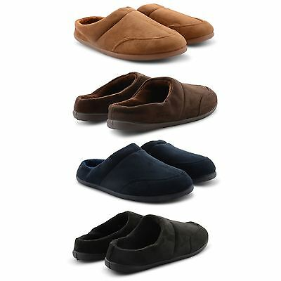 New Mens Coolers Stylish Comfy Warm Slip On Slippers Memory Foam Insoles Sizes