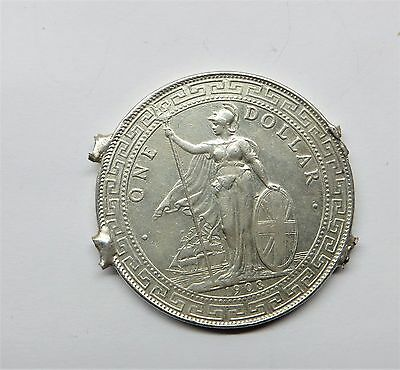1908 British Silver Trade One Dollar