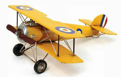 Large Tin Ornament Sopwith Camel Airplane LP24954 size 35x39x14cm