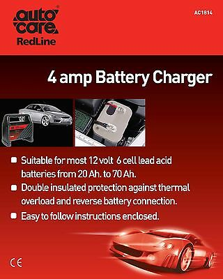 8x 4Amp Battery Charger AC1814 Autocare Genuine Top Quality NEW MULTIBUY SAVER