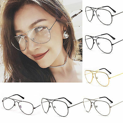 Newly Clear Lens Glasses Fashion Vintage Men Women Big Round Sunglasses Geek