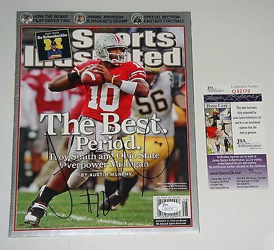 Ohio State Buckeyes Troy Smith 2006 Sports Illustrated Mag SIGNED JSA CERT