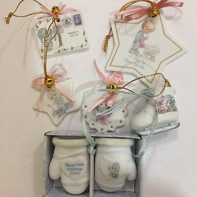 Lot of 20 Assorted Enesco Precious Moments Porcelain Christmas Ornaments