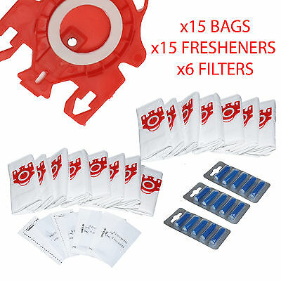x15 Vacuum Cleaner Bags For Miele Compact C1 & C2 Series FJM Type & Fresheners