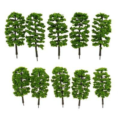 10pcs Model Trees Train Railroad Diorama Wargame Park Scenery HO OO N 1:65 #S