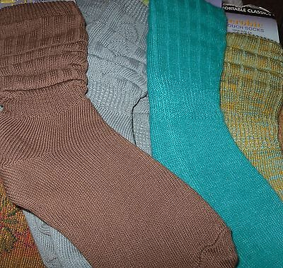 AEROBIC Slouch Socks COMFORTABLE CLASSICS SIZE 12.5 TO 3.5 & 4-6 DANCE & FITNESS