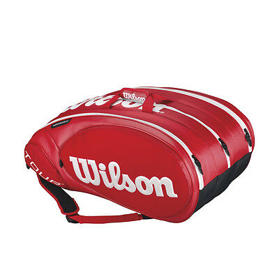 Wilson Tour Molded 2.0 15er Rot Racket Bag Tennistasche UVP 119,95€ NEU