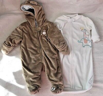 ❤ Carter's Infant Baby Girl Or Boy Newborn 0-3 Months Bunting Winter Suit Soft