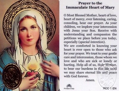 Wallet Prayer Card to Immaculate Heart of Mary Catholic Cards Ever Loving Caring
