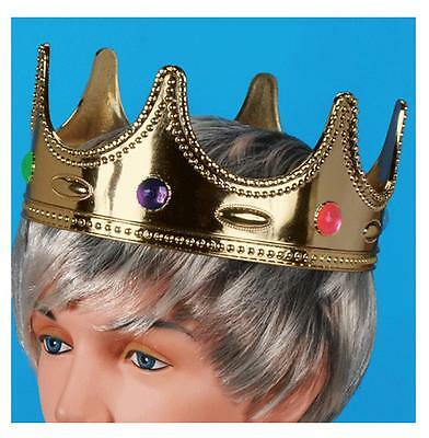 NEW CHILD SIZE JEWELED PRINCESS / PRINCE DRESSUP CROWN HAT  costume  mid evil