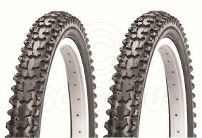 2 Bicycle Tyres Bike Tires - Black Mountain Bike - 26 x 2.10 - High Quality