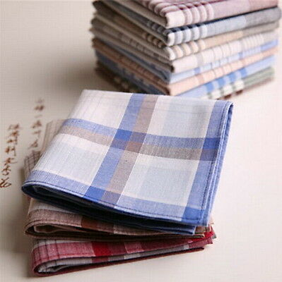15x Mens HANDKERCHIEFS 100% Cotton Pocket Square Hanky Handkerchief 40x40cm #H ぱ