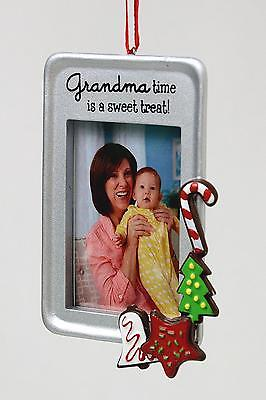 Grandma Photo Frame With Verse Hallmark Christmas Ornament New
