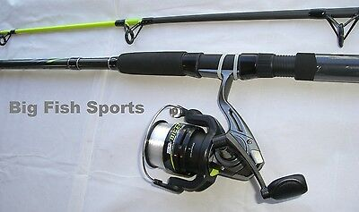 ZEBCO BIG CAT 8' Spinning Fishing Combo Rod and Reel NEW! #BCAT60802MH