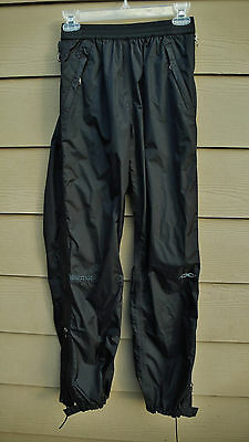 Marmot Youth Precip Pants With Full Side Zippers Size M Light Weight Non Lined
