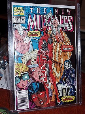 Vintage Marvel 1991 New Mutants #98 1St Appearance Deadpool Very Fine Vf
