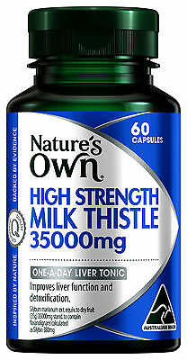 Nature's Own High Strength Milk Thistle 35000 60 Capsules