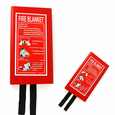 Home Safety Fire Blanket Protection 1M X 1M Box Sealed Brand New Photoluminescen