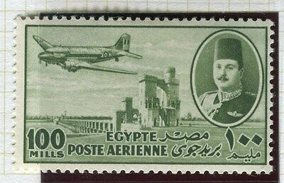 EGYPT;   1947 AIRMAIL issue fine Mint MNH  100m. value