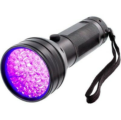 51 UV LED Scorpion Detector Hunter Finder Ultra Violet Blacklight Flashlight AA