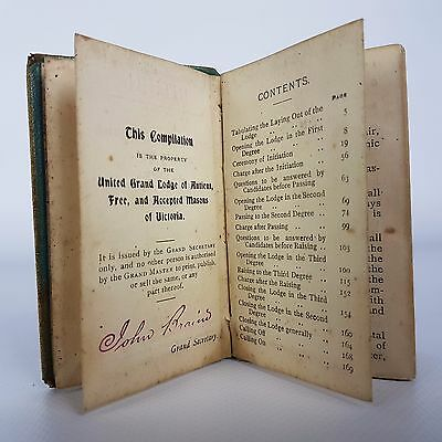 The Ritual of The First Second And Third Degrees Masonic Lodge Masons book 1909