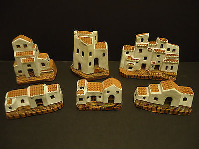 Lot of 6 Madrid Spain Clay Houses Adobe Architecture Buildings Village