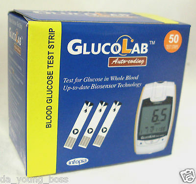 GlucoLab Blood Glucose Diabetic Testing Test Strips **BRAND NEW & SEALED**