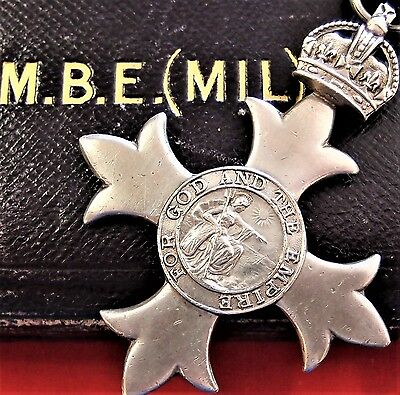Vintage Ww1 British Order Of The British Empire Military Type 1 Dated 1919 Medal