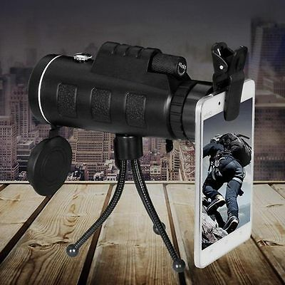 40x60 Outdoor Handheld HD Monocular Camping Telescope Kit W/Compass Tripod Set