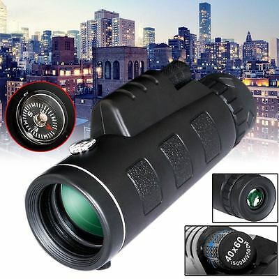 40x60 HD Optical Monocular Hunting Camping Hiking Telescope Glass Night Vision