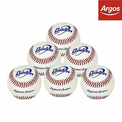 Baden SAC-BS Baseballs - pack of 6. From the Official Argos Shop on ebay