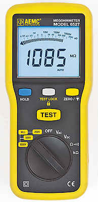 AEMC 6527 Portable Insulation Resistance Tester