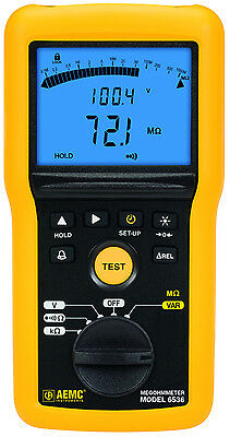 AEMC 6536 100V Multi-Function Digital Insulation Resistance Tester