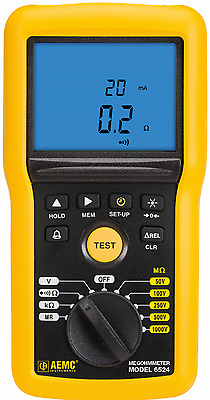 AEMC 6524 Digital Insulation Resistance Tester