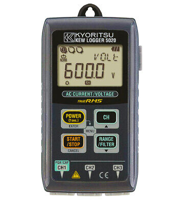 Kyoritsu 5020 TRMS 3-Channel Current / Voltage Data Logger