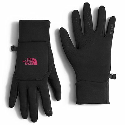The North Face Women's black  pink ETIP Touch Screen Gloves  XS S M L