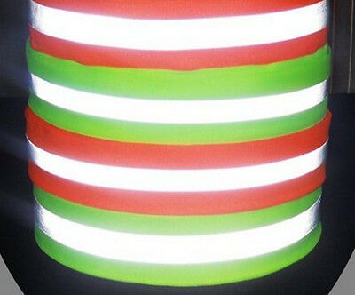 Safety Signs, Sew On Reflective Strip Tape,Lime Green Gray, 2 in. x 10ft Roll