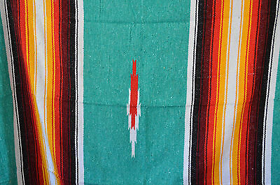 "Mexican Blanket Diamond Falsa ""Tribal Fire"" PREMIUM Throw Tribal Rug Handwoven"
